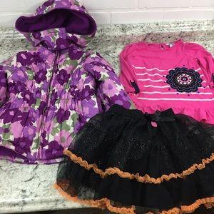 Girls 4T Bundle Osh Kosh Jacket Hello Kitty Skirt